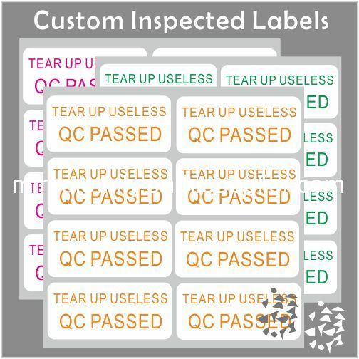 Quality control inspection labels for use in your quality system to identify inspection passed rejected accepted failed and checked goods and products