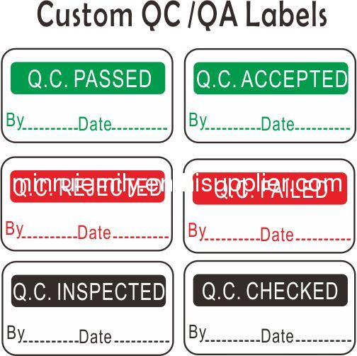 Custom Adhesive Qc Pass Label From China Manufacturer