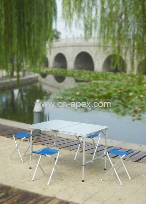 Foldable picnic table Aluminum frame