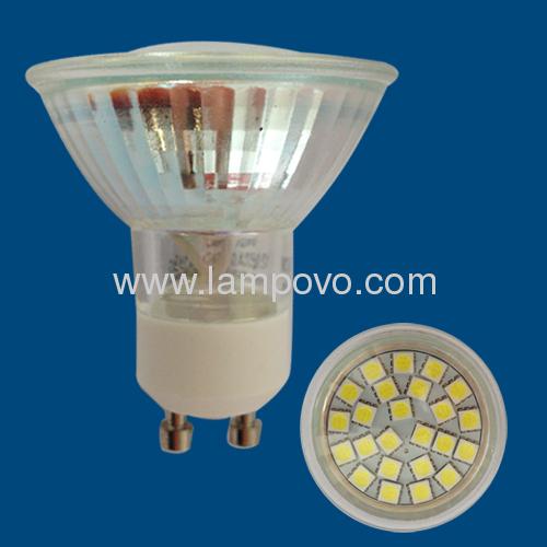 GU10 SMD5050 4W Glass Cup LED SPOTLIGHT