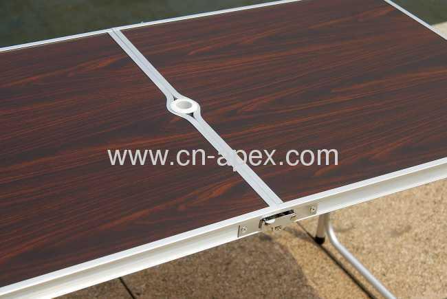 Imitation mahogany folding table 120x60cm