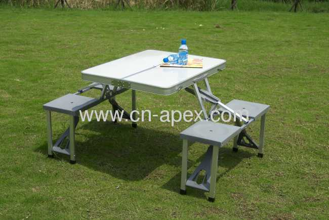 MDF Folding table for picnic with chair