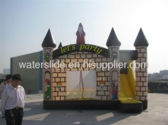 inflatable wizard jumping castle combo