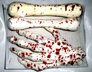 Party decoration halloween-With the blood bones suit