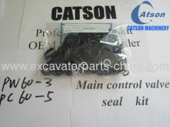 komatsu pc60-3 pw60 main control valve seal kit