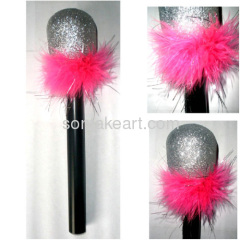 PARTY PROP GLITTER MICROPHONE