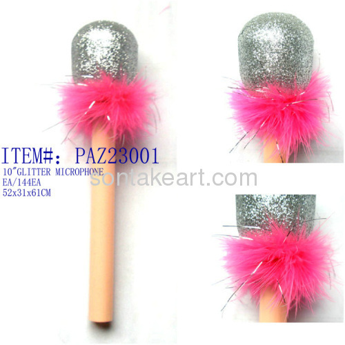 Plumed toy microphone