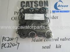 komatsu pc200-7 PC220-7 main control valve seal kit