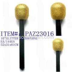 """10""""GOLD GLITTER MICROPHONE"""