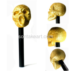 Gold color halloween glitter microphone