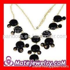 diy J.Crew bubble necklace in black
