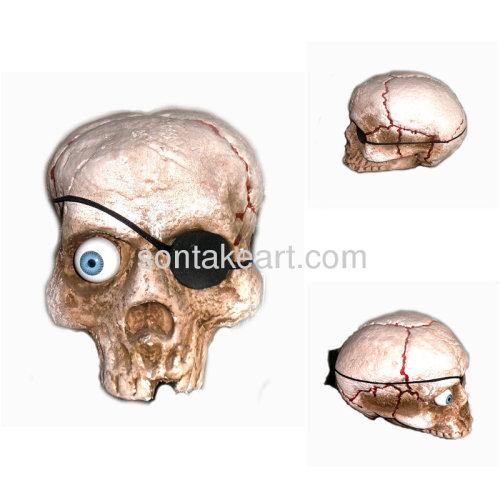 One-eyed Foam Skull Decoration