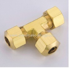 Brass Union Tee Ferrule connectors