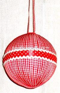 christmas tree decoration--RIBON BALL