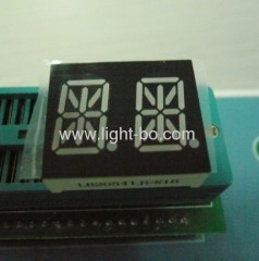 Dual digit 14 segment led display; 14 Segment alphanumeric;