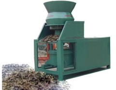 Corn straw grain machine