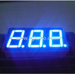 Ultra Blue 0.56 inch common anode 3 digit 7 segment LED displays