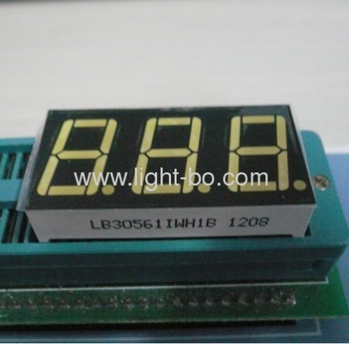 Pure White common anode 0.56-inch 3 digit seven segment led displays