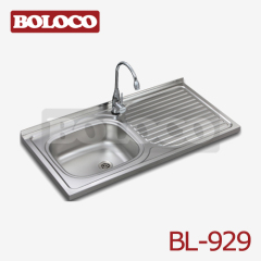 Middle&Low BA finish Single bowl Single drainer One piece rectangle/Square Sink 304# 201# BL-929