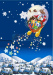 Custom Christmas Snow night garden flag
