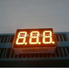 "0.36"" triple digit 7 segment led display common cathode amber for instrument panel"