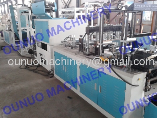 Automatic Non woven Zipper Bag Making machine