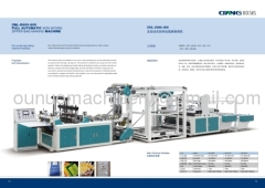 2012 automatic nonwoven zipper bag making machine
