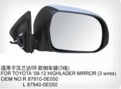 Side Mirror For Toyota Highlander 2009