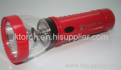 LED rechargeable plastic torch rechargeable plastic torch