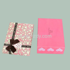 Pink printed gift paper box for underwears