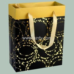 Printed paper bag with foil stampling paper bag