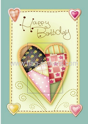 happy birthday card garden flag