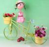 Metal doll flower pots