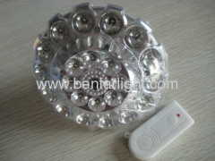 22 LED flying disk type charged remote-control emergency light
