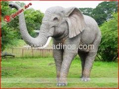 Fiberglass animal model elephant