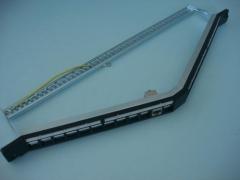 0.66U 24 Porto STP angular Patch Panel em branco
