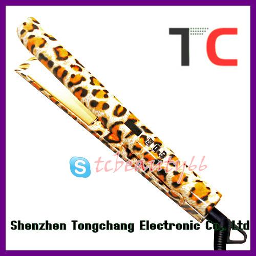 leopard hair straightening machine