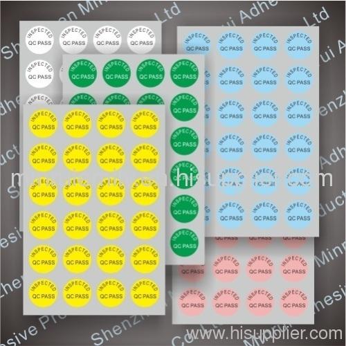 qc calibration labels stickers