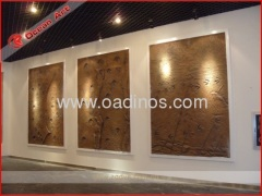 Fiberglass wall decoration_footprints of dinosaurs