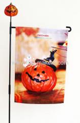 Halloween pumpkin smile garden flag