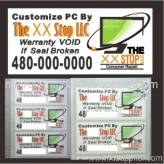 Custom destructible Labels for Laptops,security address labels