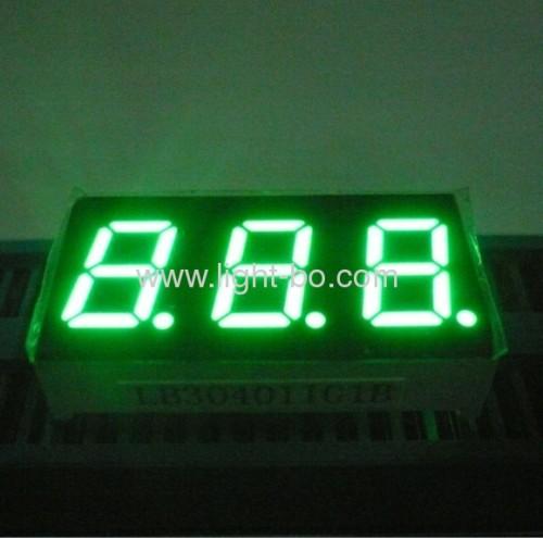 "0.4"" anode triple digit pure green 7 segment led display;"