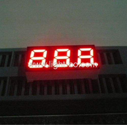 "Súper brillante rojo 3 dígitos 0.28 ""ánodo común de 7 segmentos Display LED"