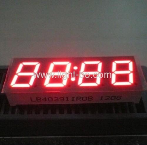 Чистый зеленый общий анод 0.39 дюйма четырехзначные 7 сегментов LED часы показывают