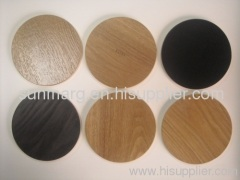 Laminated wood coaster