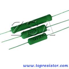 Carbon Film Fixed Resistor with Provide Flameproof Coating