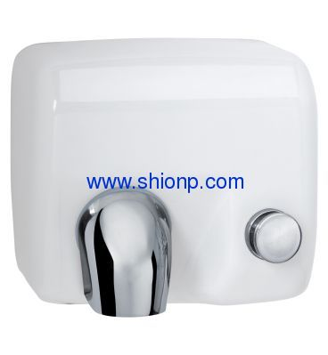White automatic BATHROOM hand dryer