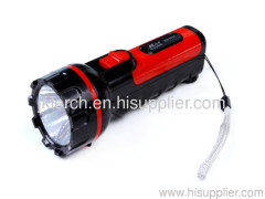 1W rechargeable LED plastic torch LED plastic torch