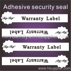 tamper evident seal labels