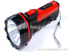1W rechargeable LED plastic flashlight